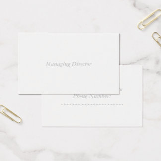oceania standard matte business card