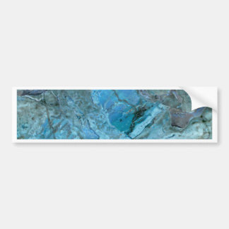 Oceania Teal & Blue Marble Bumper Sticker