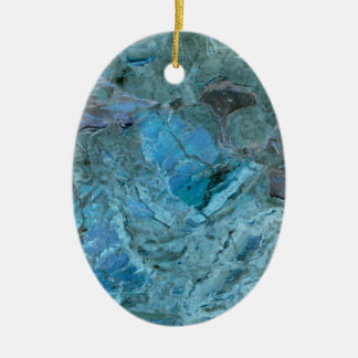 Oceania Teal & Blue Marble Ceramic Ornament