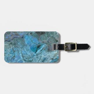 Oceania Teal & Blue Marble Luggage Tag