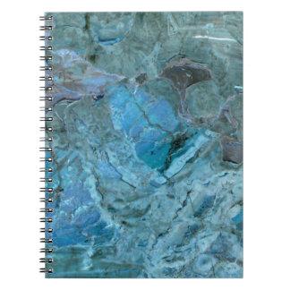 Oceania Teal & Blue Marble Notebooks