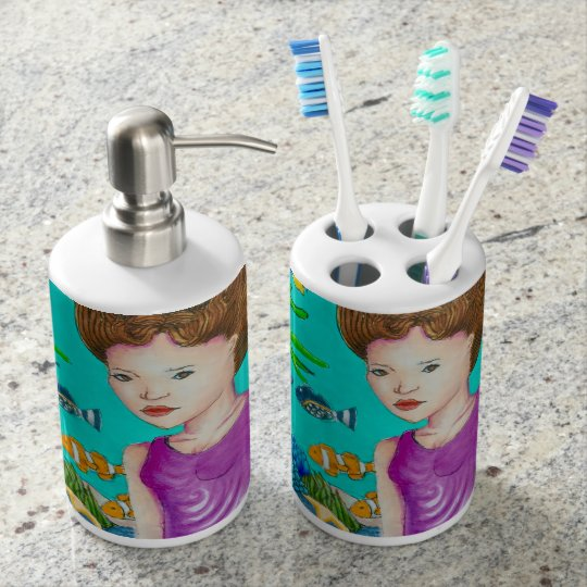 Ocean's Beauty Soap Dispenser and Toothbrush Holdt