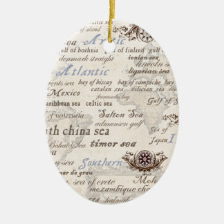 oceans by tony fernandes ceramic ornament