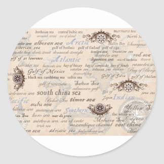 oceans by tony fernandes classic round sticker