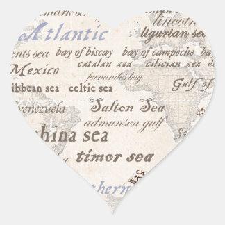 oceans by tony fernandes heart sticker