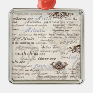 oceans by tony fernandes metal ornament