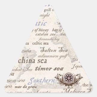 oceans by tony fernandes triangle sticker