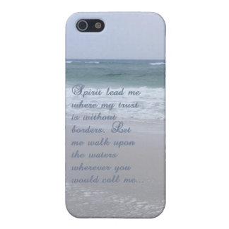 "Oceans iPhone 5/5S Case. ""Spirit lead me..."" iPhone 5 Case"