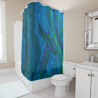 Oceans of Color Shower Curtain