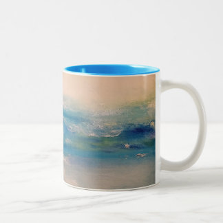 Oceans Of Morning Two-Tone Coffee Mug