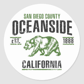 Oceanside Classic Round Sticker