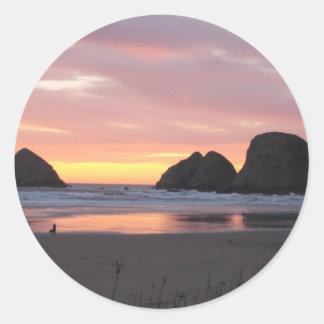 Oceanside, Oregon Classic Round Sticker
