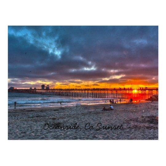 Oceanside Pier Sunset Postcard