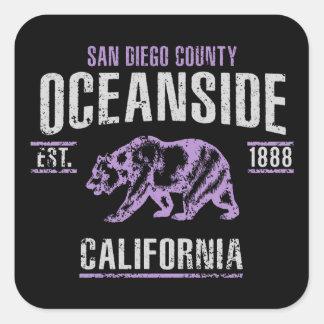 Oceanside Square Sticker