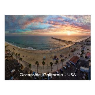 Oceanside Sunset Postcard