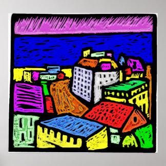 Oceanside Town Poster