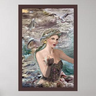 Oceanus Daughter print! Poster