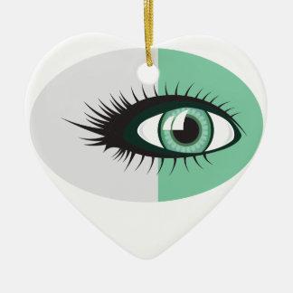 OceanWaveEye.pdf Ceramic Heart Ornament