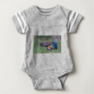 Ocellated Turkey in Guatemala Baby Bodysuit