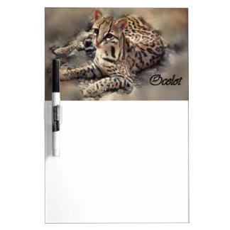 Ocelot Lovers Art Dry Erase Board