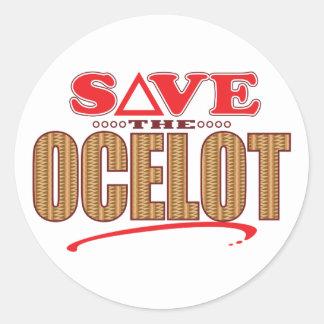 Ocelot Save Round Sticker
