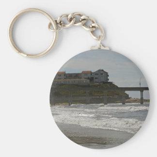 Ocen Beach Pier 3 Basic Round Button Keychain