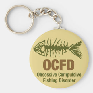 OCFD OCD Fishing Basic Round Button Keychain