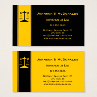 Ocher Black Gold Law Offices Business Card