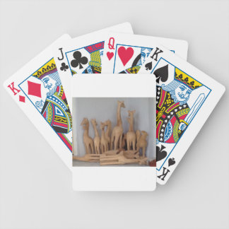 Ocho carvings bicycle playing cards