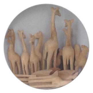 Ocho carvings plate