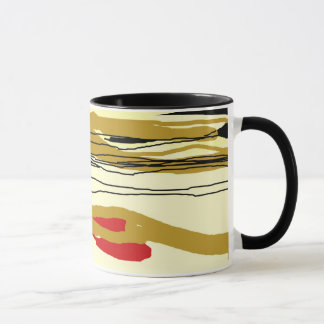 Ochre and red>Abstract Mugs