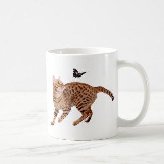 Ocicat Cat & Butterfly Coffee Mug