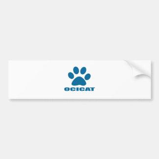 OCICAT CAT DESIGNS BUMPER STICKER