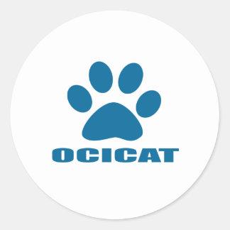 OCICAT CAT DESIGNS CLASSIC ROUND STICKER