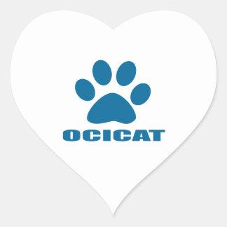 OCICAT CAT DESIGNS HEART STICKER