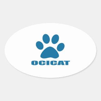 OCICAT CAT DESIGNS OVAL STICKER
