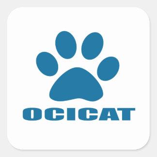 OCICAT CAT DESIGNS SQUARE STICKER