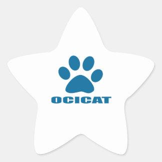 OCICAT CAT DESIGNS STAR STICKER