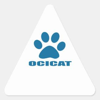 OCICAT CAT DESIGNS TRIANGLE STICKER