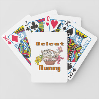 Ocicat Cat Mom Bicycle Playing Cards