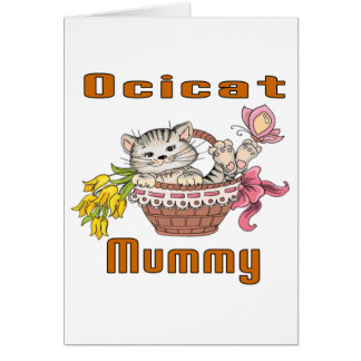 Ocicat Cat Mom Card