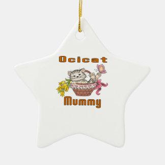 Ocicat Cat Mom Ceramic Ornament