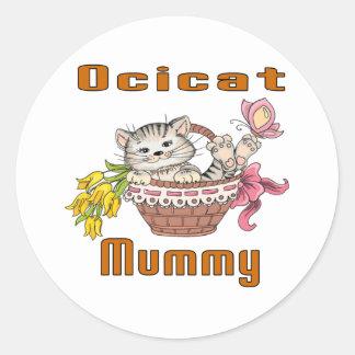 Ocicat Cat Mom Classic Round Sticker