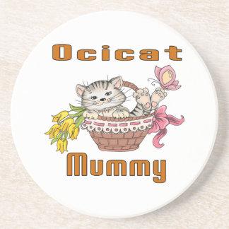 Ocicat Cat Mom Coaster