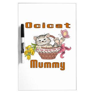 Ocicat Cat Mom Dry Erase Board