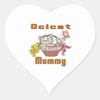 Ocicat Cat Mom Heart Sticker