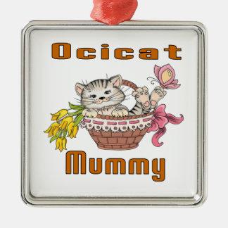 Ocicat Cat Mom Metal Ornament