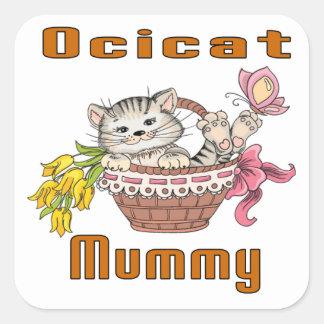 Ocicat Cat Mom Square Sticker