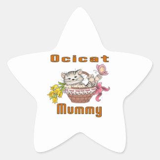 Ocicat Cat Mom Star Sticker