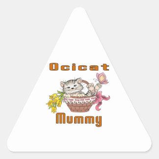 Ocicat Cat Mom Triangle Sticker